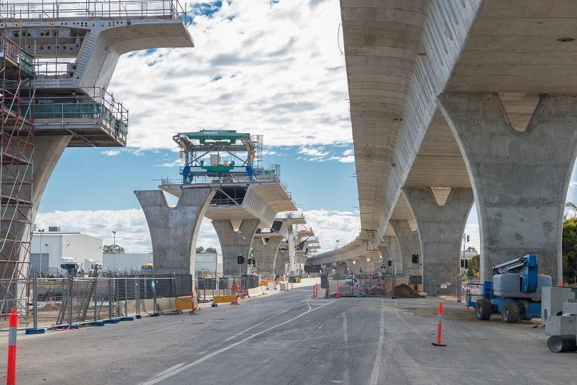 Infrastructure bridge construction