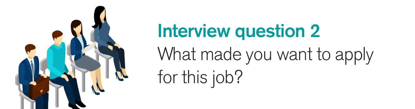 Interview question 2: What made you want to apply for this job