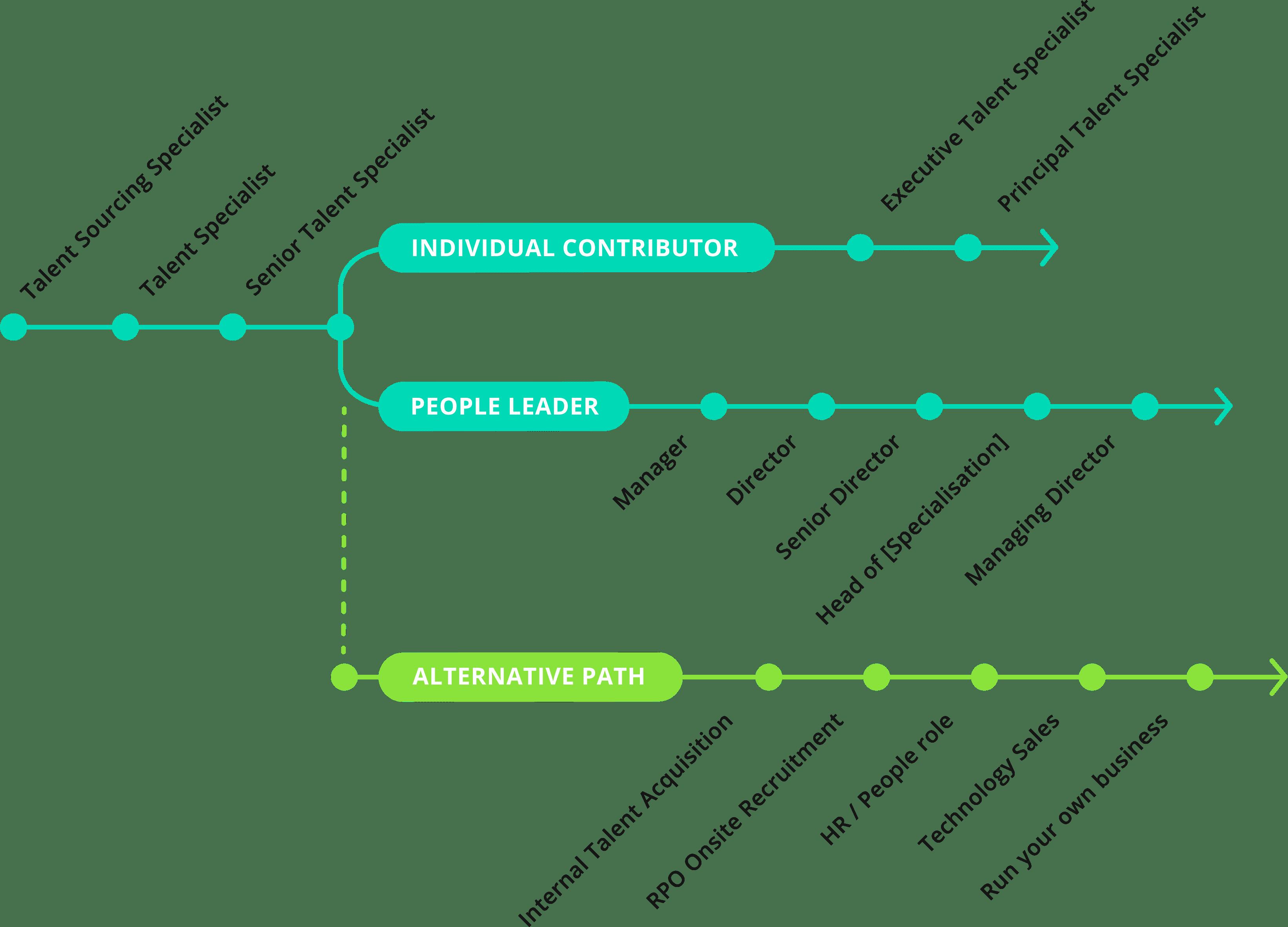 Technology recruitment career path tree