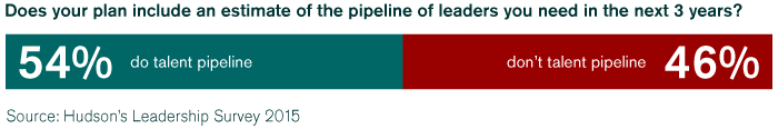 54% include a talent pipeline for leaders needed in the business for the next 3 years