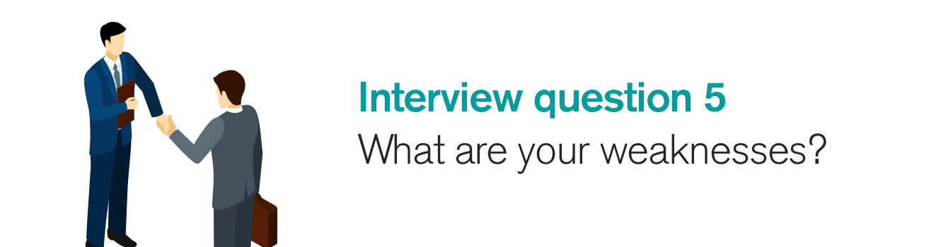 Interview question 5: What are your weaknesses?