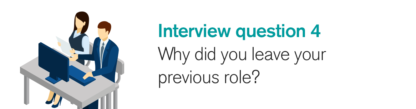Interview question 4: Why did you leave your previous role?